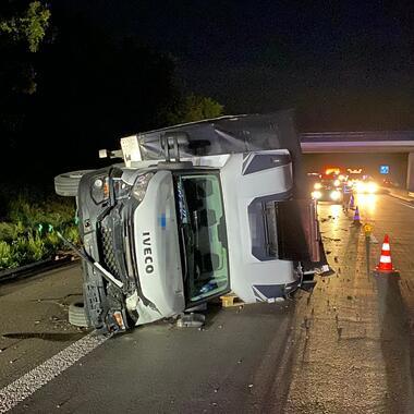 Das Unfallfahrzeug von Vorne