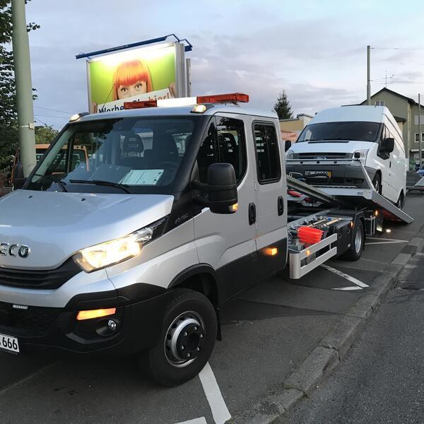 Überführungsfahrt eines Ford Transit nach Kassel