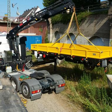 Umsetzung eines Gleiswagens